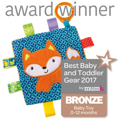 Taggies Crinkle Me Fox - Bronze Mumii Baby Toy