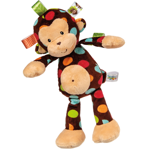 Taggies Dazzle Dots Monkey Soft Toy - 12""