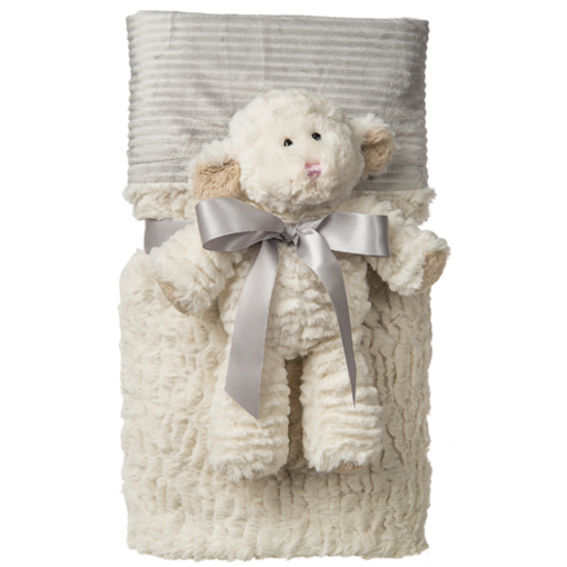 Marshmallow Lamb Cuddle Blanket Set - 28x40""