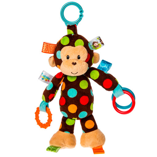 Taggies Dazzle Dots Monkey Activity Toy - 10""