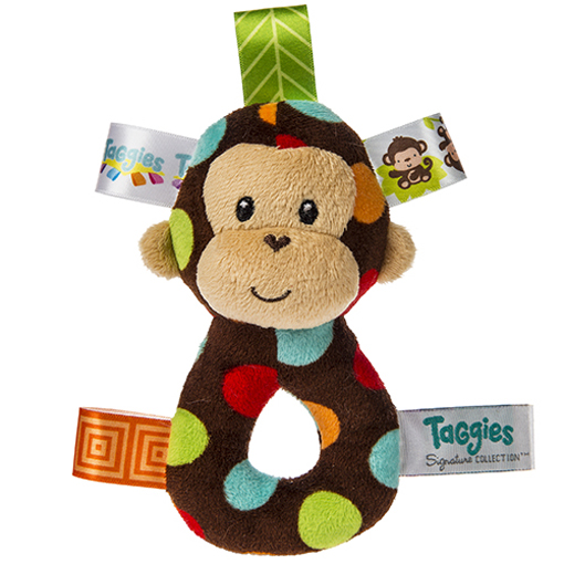 Taggies Dazzle Dots Monkey Ring Rattle - 5""