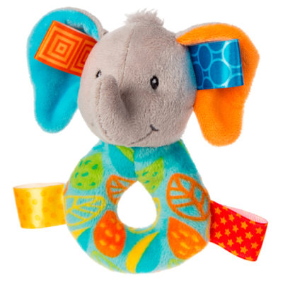 Taggies Little Leaf Elephant Rattle - 5""