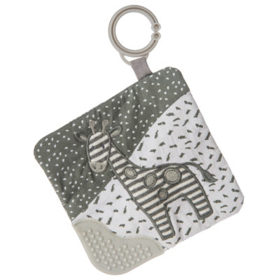 "Afrique Giraffe Crinkle Teether - 6x6"" #43020"