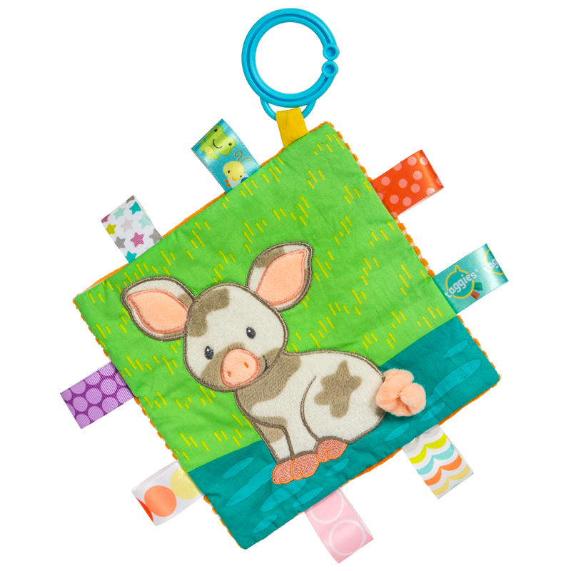 40036 Taggies Crinkle Me Patches Pig - 6.5x6.5""