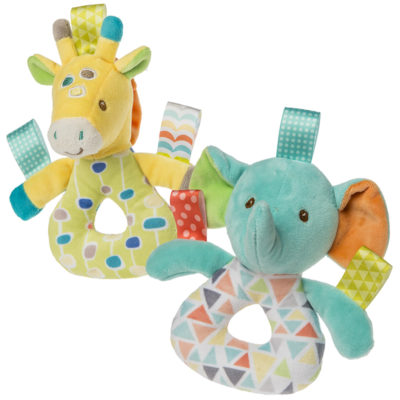 40220 Taggies Pretty Print Rattle - 6""
