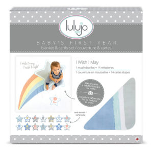 """LJ583 Lulujo """"I Wish I May"""" Baby's First Year Deluxe Blanket & Cards Set"""