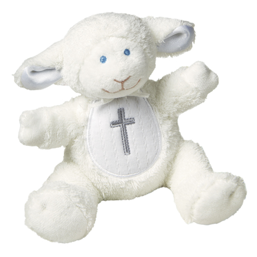 Christening Lamb Rattle - 5""