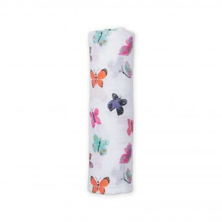 LJ407 Lulujo Butterfly Cotton Swaddle