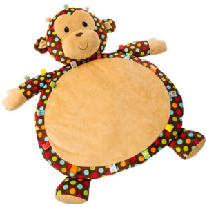 "Taggies Dazzle Dots Monkey Baby Mat - 31x23"""