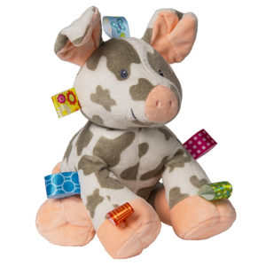"""Taggies Patches Pig Soft Toy - 12"""""""