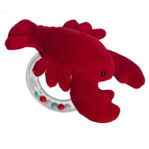 "Lobbie Lobster Ring Rattle - 6"""