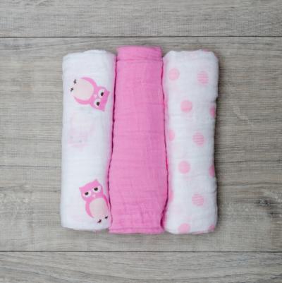 "Lulujo-Owl Always Love You Mini Cotton Cloths - 28x28"""