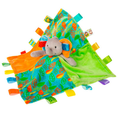 Taggies Little Leaf Elephant Character Blanket - 13x13""