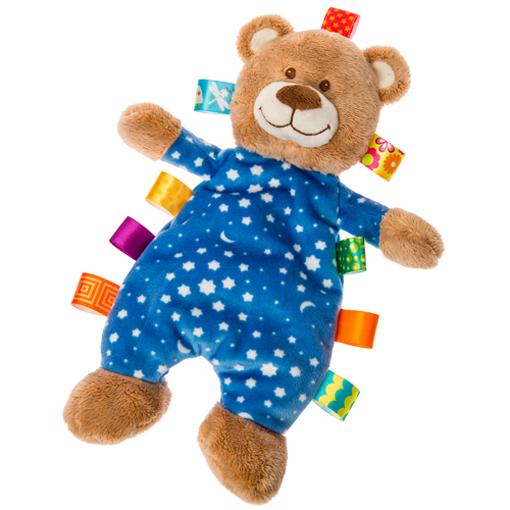 Personalised Pink Goodnight Teddy Bear Soft Plush Fabric Add Name