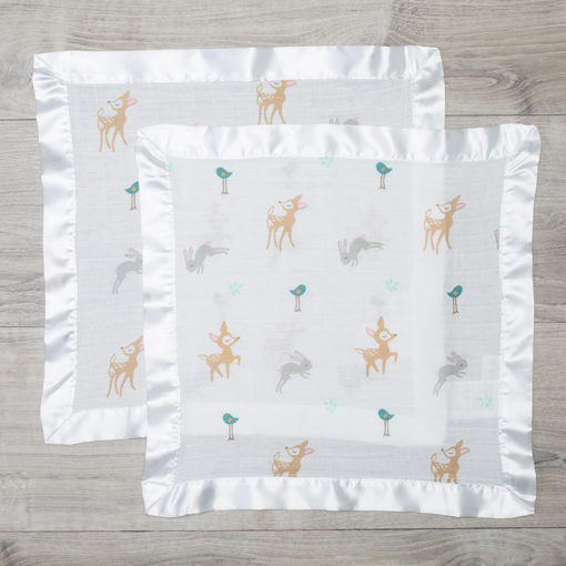 Lulujo-Little Fawn Cotton Security Blankets - 16x16""