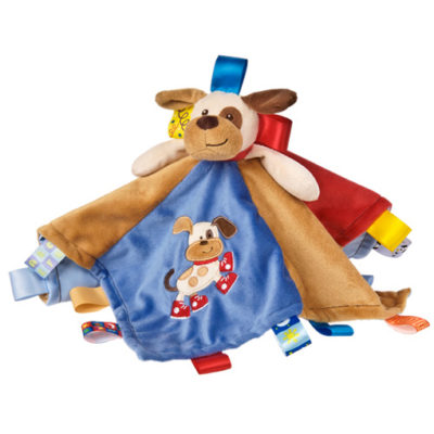 "Taggies Buddy Dog Character Blanket - 13.5"" x 13.5"""