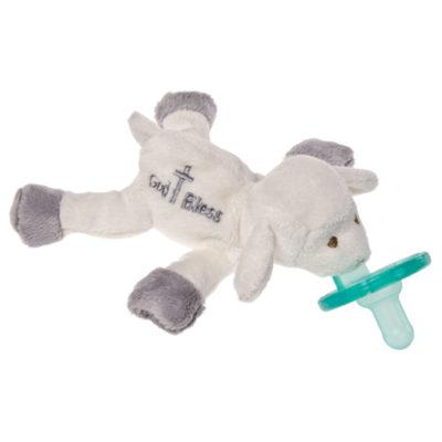 "God Bless Lamb WubbaNub Pacifier - 7"""