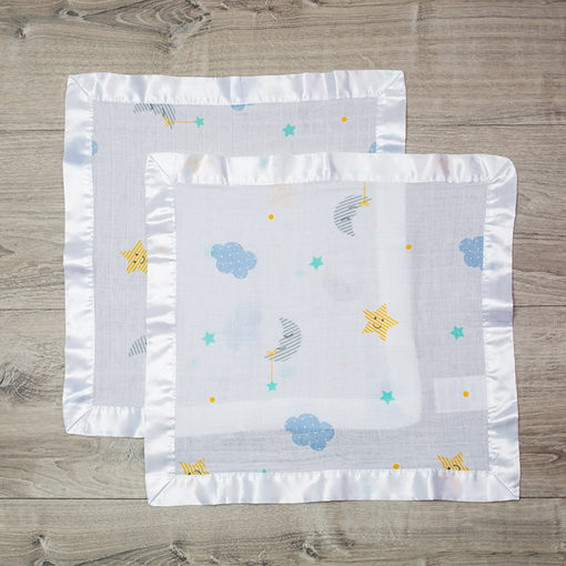 Lulujo-Dreamland Cotton Security Blankets - 16x16""