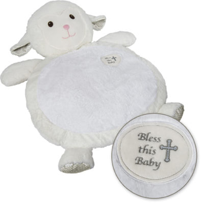 Bless this Baby Lamb Baby Mat - 31x23""