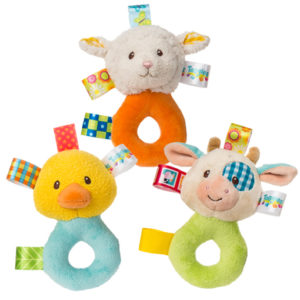 40010 Taggies Barnyard Rattle - 5""