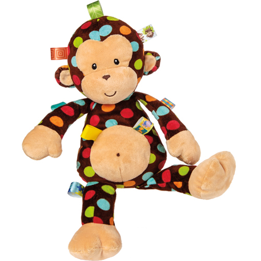 Taggies Dazzle Dots Big Monkey Soft Toy 18 Mary Meyer Stuffed Toys