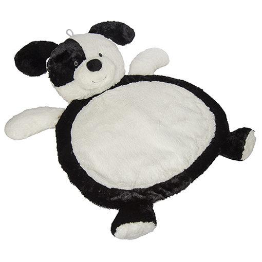 """Black & White Puppy Baby Mat - 31x23"""""""