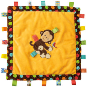 "Taggies Dazzle Dots Monkey Cozy Blanket - 16"" x 16"""