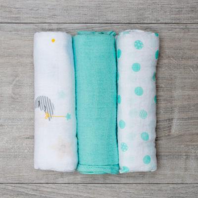 "Lulujo-Dreamland Mini Cotton Cloths - 28x28"""