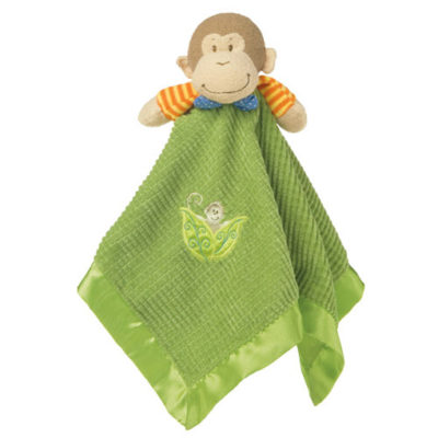 """Mango Monkey Baby Blanket - 17"""" x 17"""""""