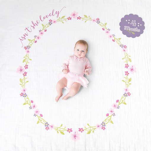 "Lulujo ""Isn't She Lovely"" Baby's First Year Blanket & Cards Set"