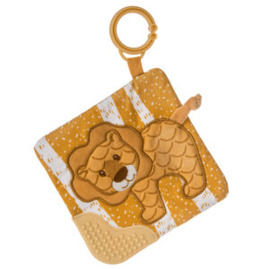 "Afrique Lion Crinkle Teether - 6x6"" #43021"