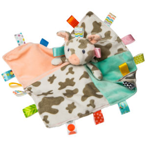 """Taggies Patches Pig Character Blanket - 13x13"""""""
