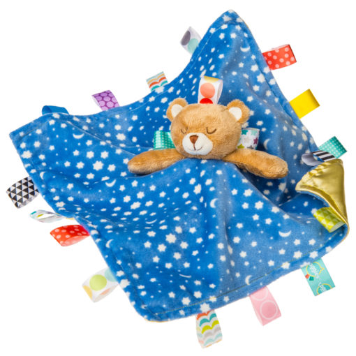 """40195 Taggies Starry Night Teddy Character Blanket - 13x13"""""""