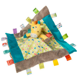 "40224 Taggies Gumdrops Giraffe Character Blanket - 13x13"""