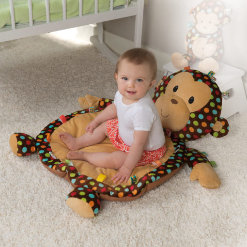 Taggies Dazzle Dots Monkey Baby Mat