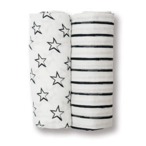 LJ130 Stars & Stripes Cotton Swaddles