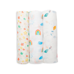 LJ135 High in the Sky Bamboo Muslin Swaddles