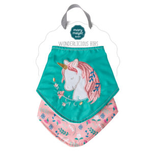43076 Mary Meyer Twilight Baby Unicorn Wonderlicious Bib Set