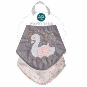 43116 Itsy Glitzy Swan Wonderlicious Bib Set