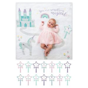 "LJ590 Lulujo ""Something Magical"" Baby's First Year Blanket & Cards Set"