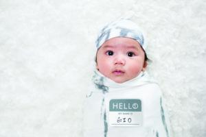 LJ643 Lulujo Hello World Hat & Swaddle Set - Marble