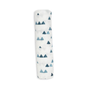 LJ145 Lulujo Navy Triangles Bamboo Swaddle