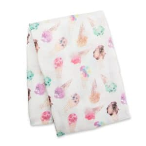 Lulujo Ice Cream Bamboo Swaddle