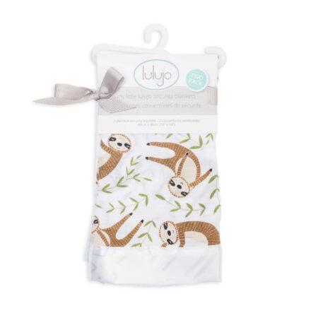 LJ072 Lulujo Modern Sloth Cotton Security Blankets