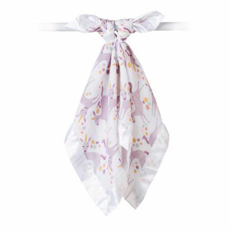 LJ074 Lulujo Modern Unicorn Cotton Security Blankets