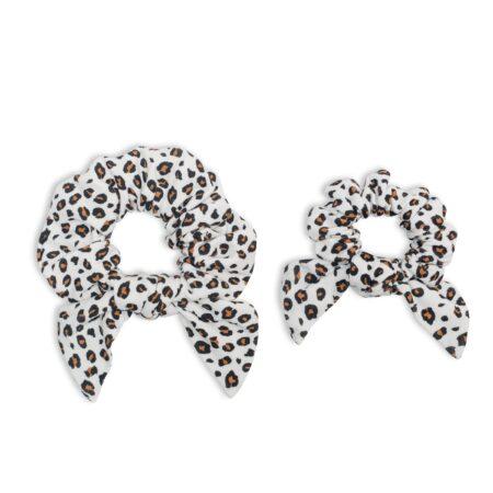 LJ262 Lulujo Mommy + Me Leopard Scrunchies