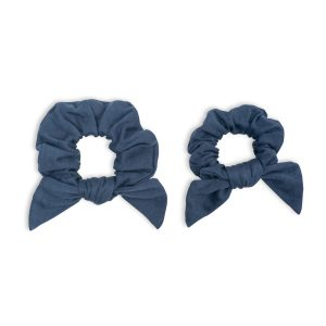 LJ265 Lulujo Mommy + Me Navy Scrunchies