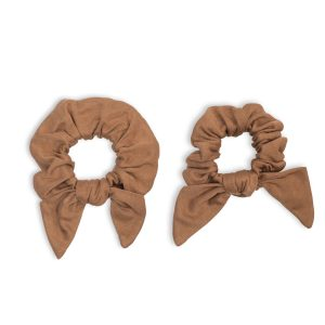 LJ266 Lulujo Mommy + Me Tan Scrunchies