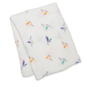 LJ147 Lulujo Hummingbirds Swaddle