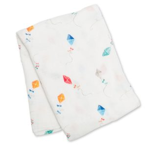 LJ148 Lulujo Kites Cotton Swaddle